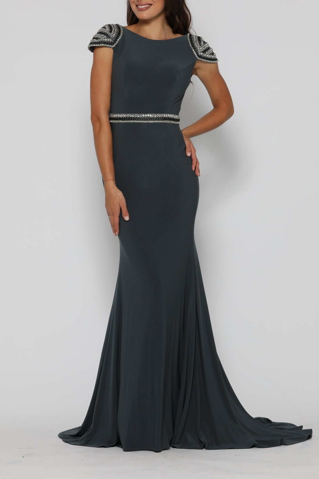 Jadore Eric Dress Gunmetal - Front Full Image