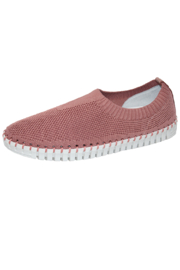 Eric Michael Lucy Blush Sneaker - Front cropped