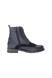 Eric Michael Combat-Inspired Designer Boots - Side cropped