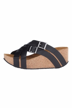 Shoptiques Product: Joan Cross Strap Wedge