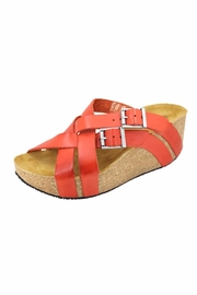 Eric Michael Joan Cross Strap Wedge - Front cropped