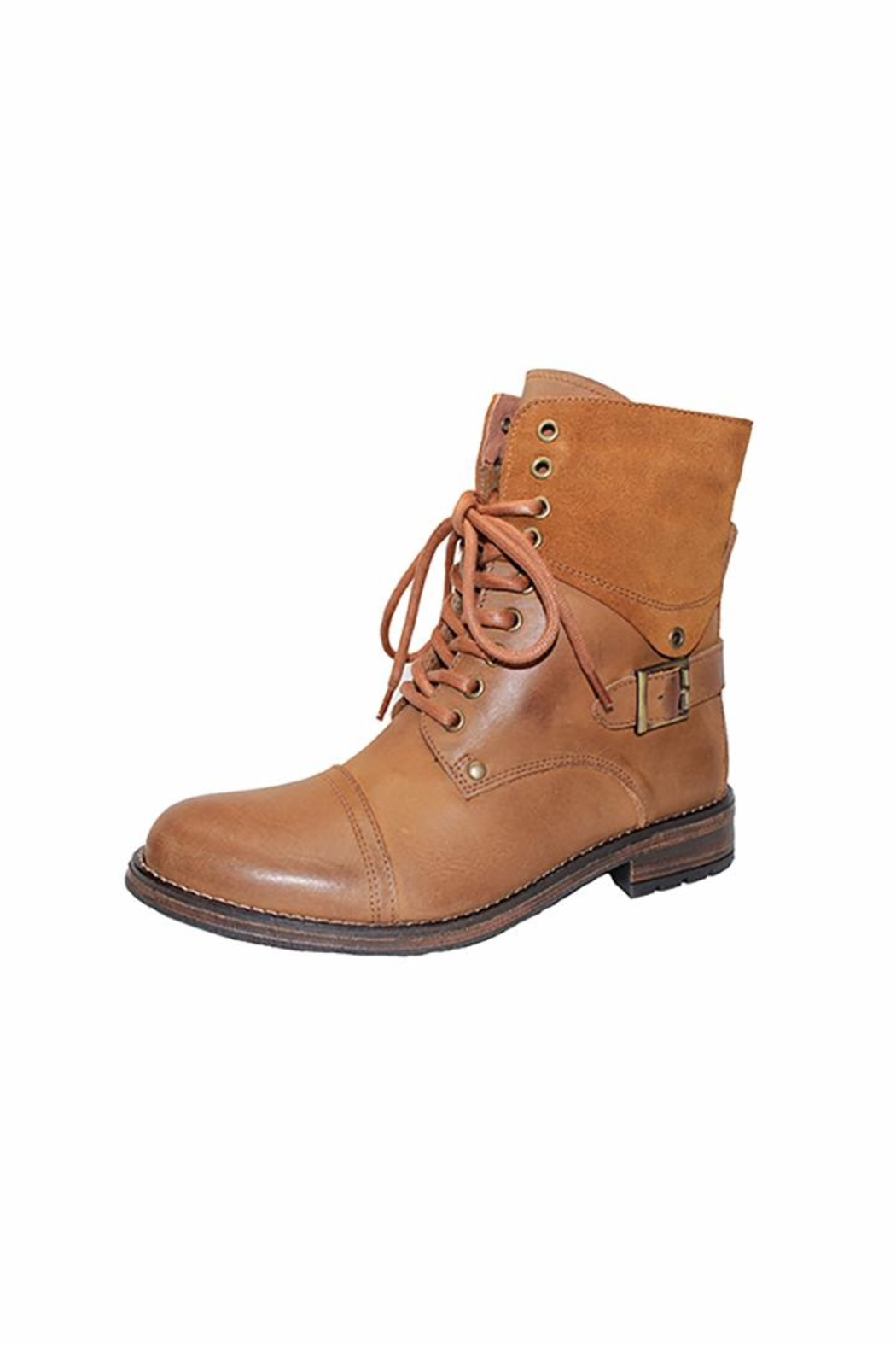 Eric Michael Juniper Combat-Inspired Boot - Front Cropped Image