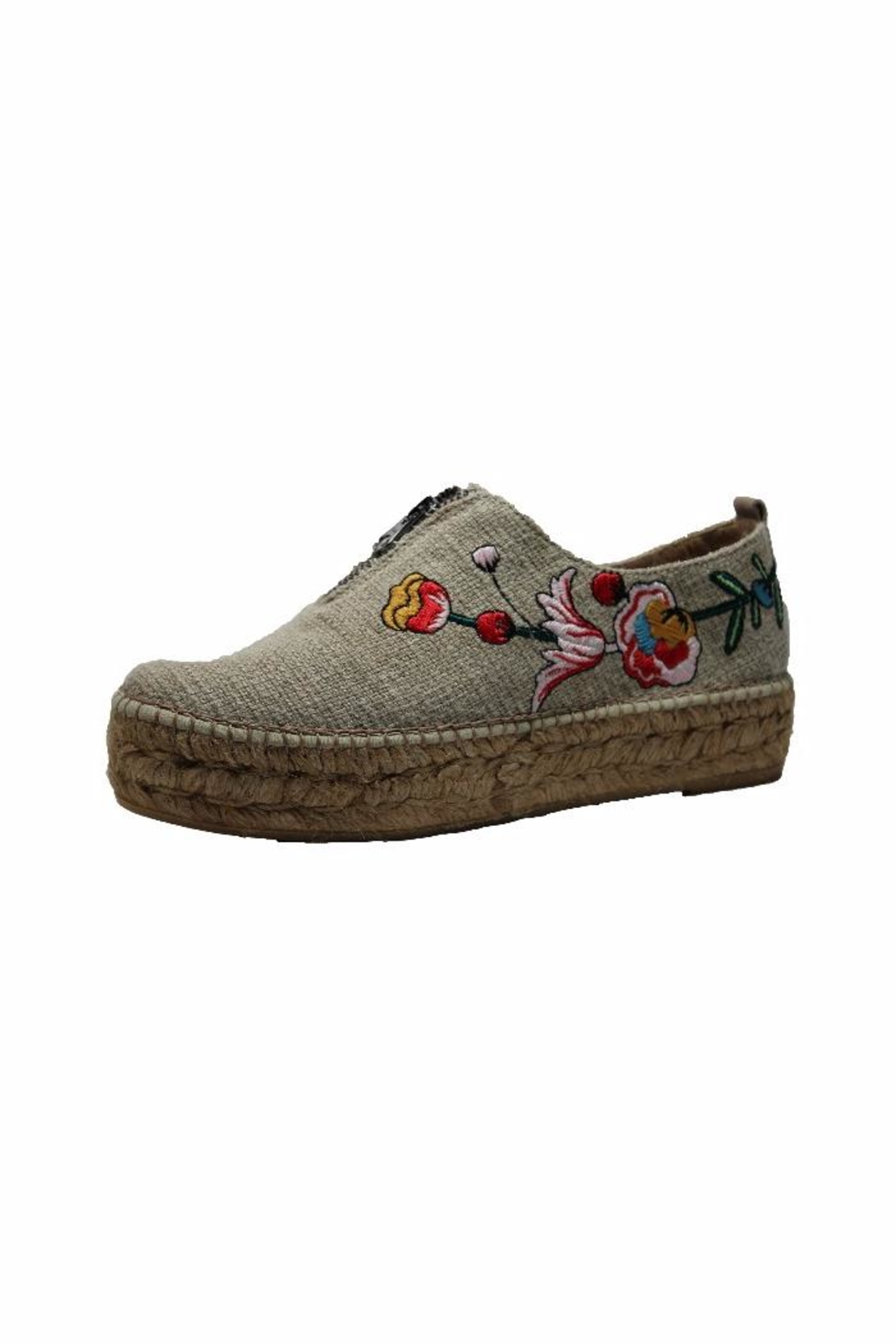 Eric Michael Serena Embroidered Sneaker - Front Cropped Image