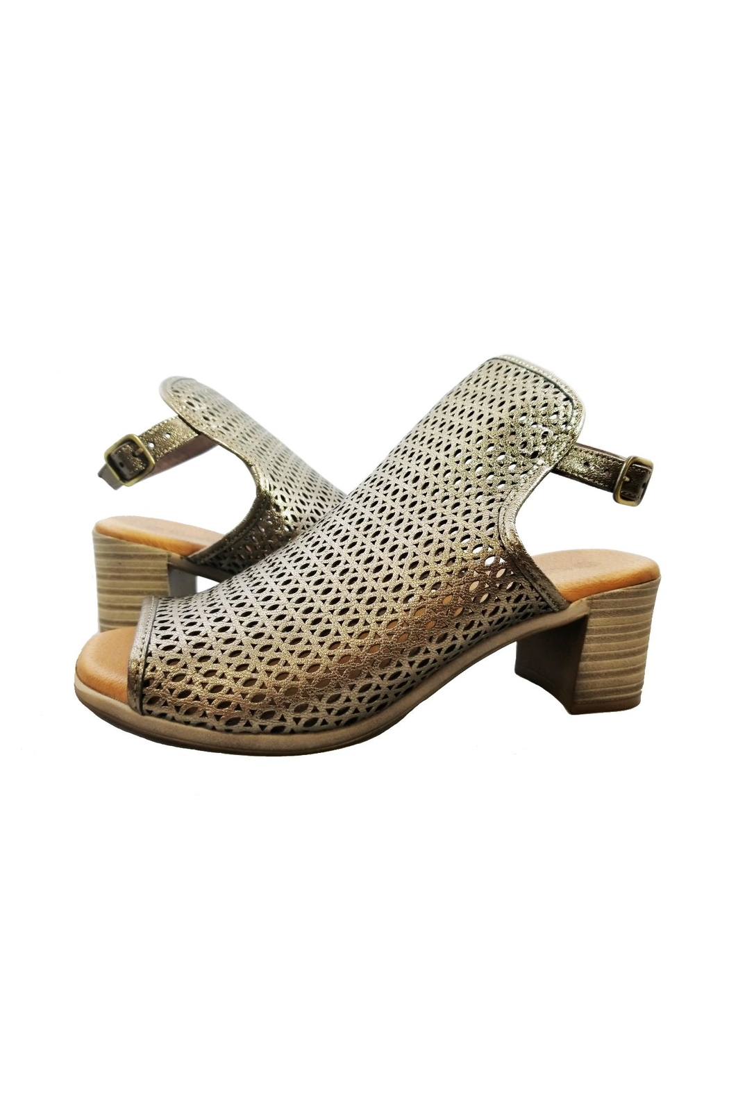 Eric Michael Tiffany Peep Toe Sandal - Side Cropped Image