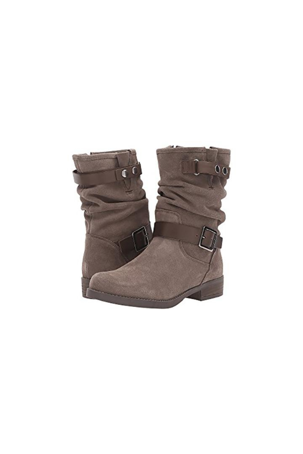 Eric Michael Venice Suede Slouch-Boot - Front Full Image