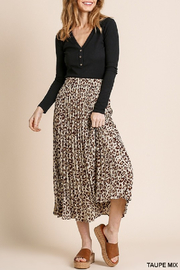 umgee  Erica Pleated Skirt - Product Mini Image