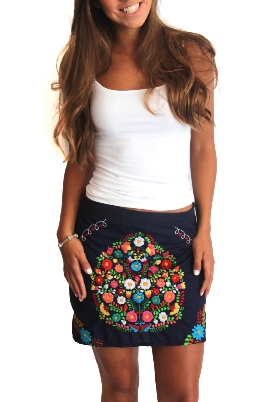 403de0205ac Erica Maree Lia Mini Skirt from Mexico by Eclectic Array — Shoptiques