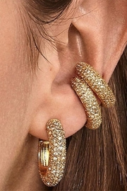 Erica Nikol Pave Ear Cuff - Side cropped