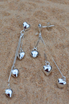Erick Diaz Pendulum Hearts Earrings - Alternate List Image