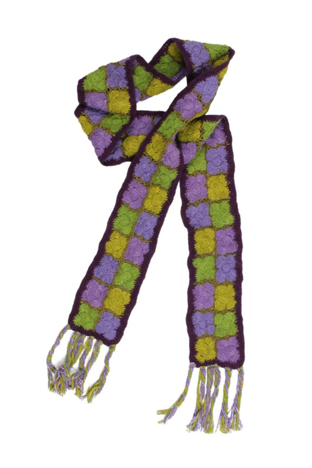 Erik & Mike Hand Knit Scarf - Front Cropped Image