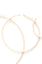 Sarah Briggs Erika Beaded Hoop Small - Front cropped