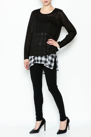 Erin London Checkered Black Top Set - Side cropped