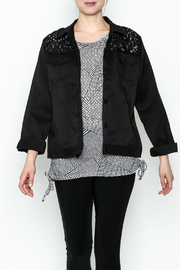 Erin London Black Lace Classy Jacket - Front cropped