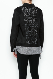 Erin London Black Lace Classy Jacket - Back cropped