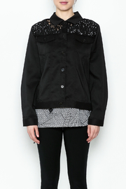 Erin London Black Lace Classy Jacket - Front full body