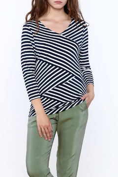 Erin London Navy White Stripe Top - Product List Image