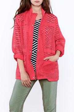 Erin London Coral Mesh Jacket - Product List Image