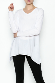 Erin London Cool White Top - Front cropped
