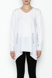 Erin London Cool White Top - Front full body