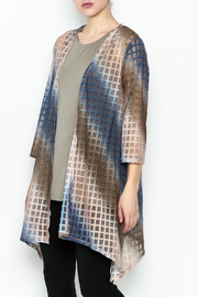 Erin London Shadow Box Open Kimono - Front cropped