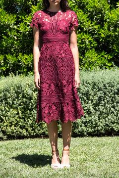 Erin Fetherston Aubergine Lacey Dress - Product List Image