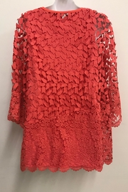 Erin London Coral Lace Tunic - Front full body