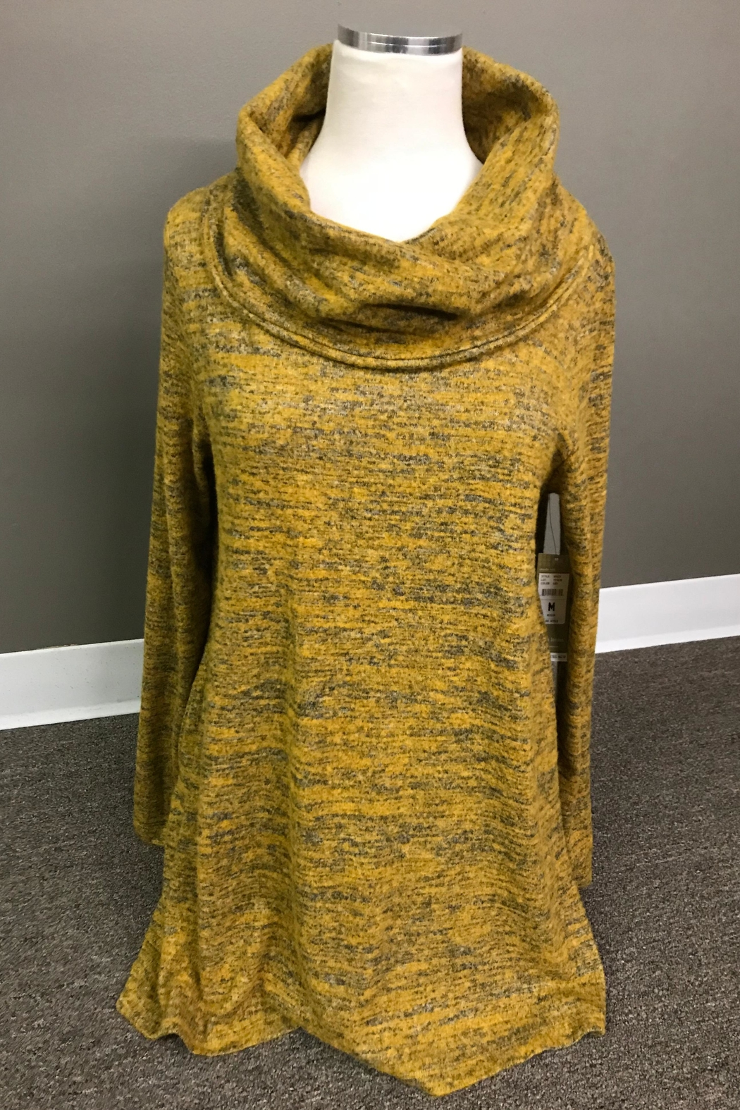 Erin London Heathered Cowl Tunic - Front Cropped Image
