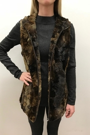 Erin London Hooded Fur Vest - Product Mini Image