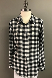 Erin London Mad For Plaid Shirt - Front full body