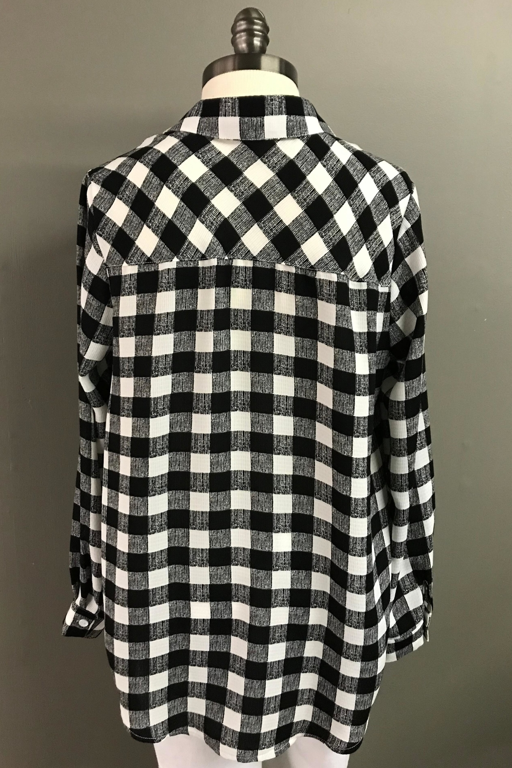 Erin London Mad For Plaid Shirt - Side Cropped Image
