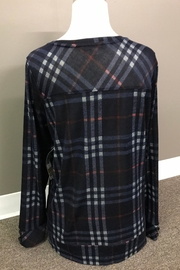 Erin London Perfectly Plaid Top - Front full body