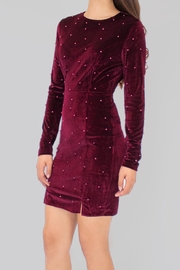 Eros Apparel Embellished Velvet Dress - Front cropped