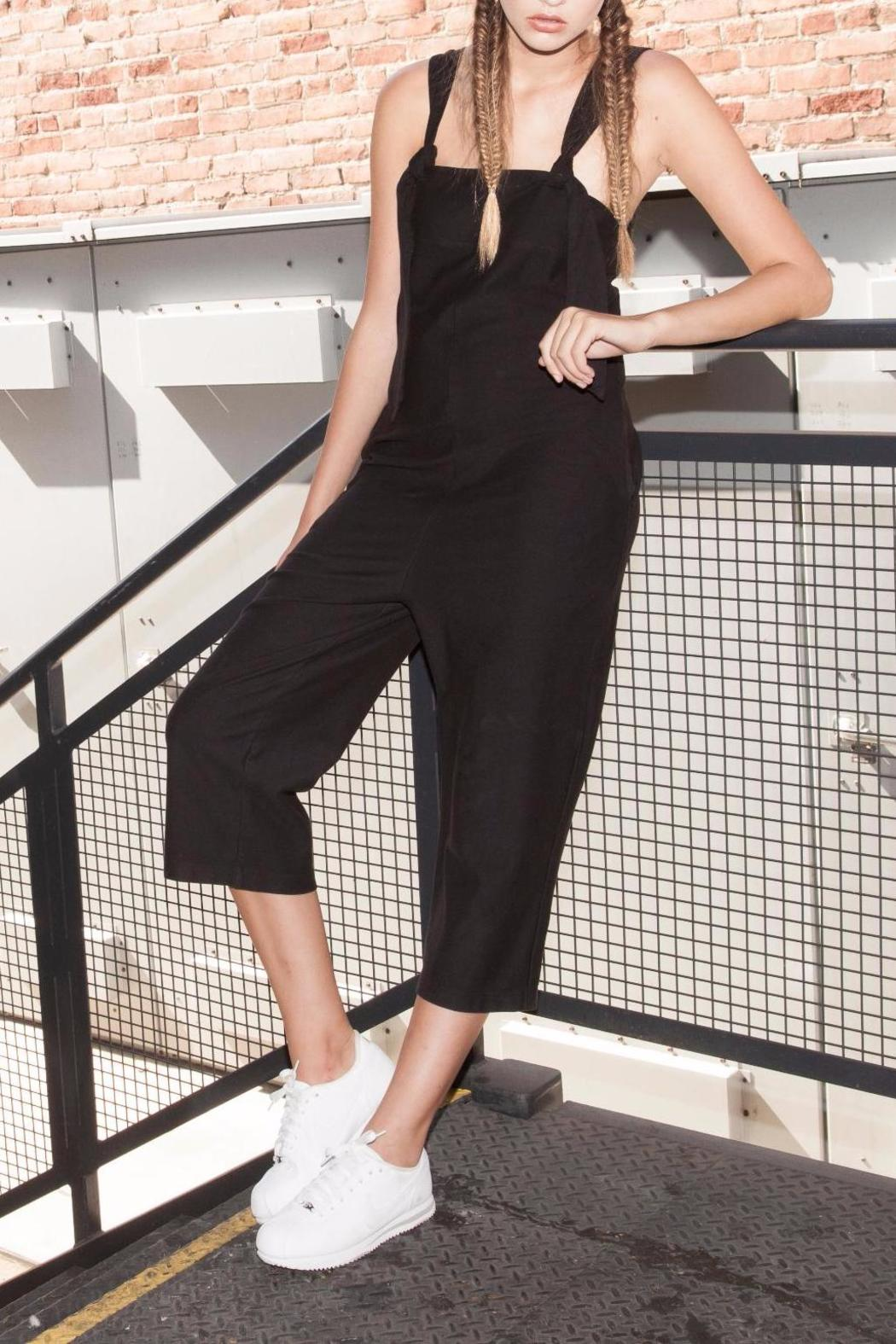 Errant Cropped Jersey Jumpsuit - Front Cropped Image