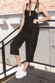 Shoptiques Product: Cropped Jersey Jumpsuit - Front cropped