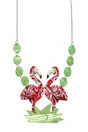 Erstwilder Flamboyant Flamingo Necklace - Front cropped
