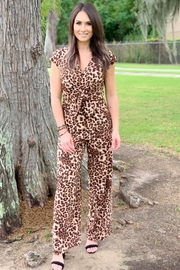 She + Sky Erwin Leopard Twist Front Jumper - Product Mini Image