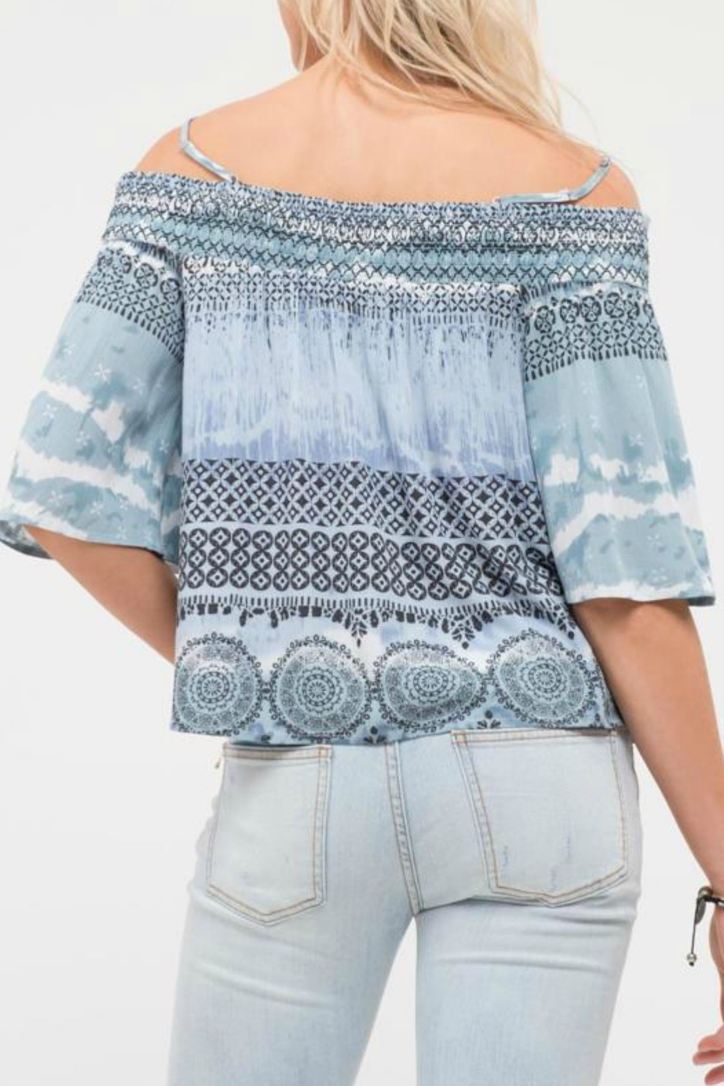 Blu Pepper Escape Cold Shoulder Top - Side Cropped Image
