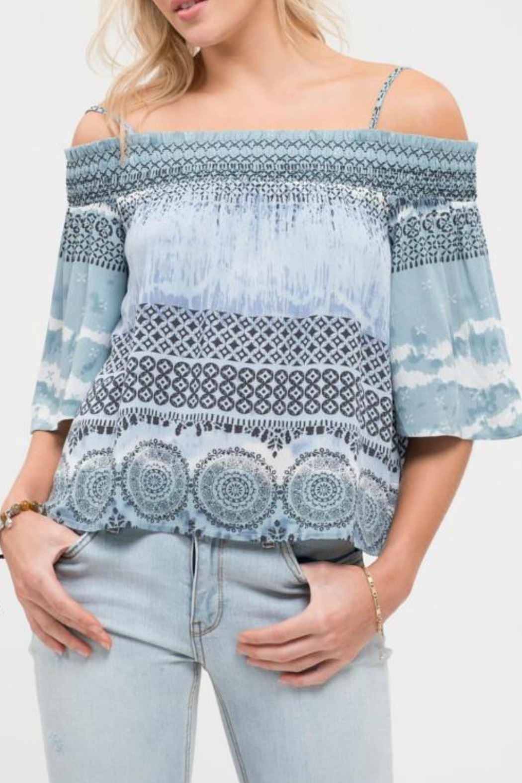 Blu Pepper Escape Cold Shoulder Top - Main Image