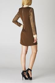 Esley Collar Brown Dress - Side cropped