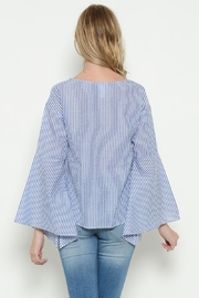 Esley Blue Bell Sleeve Top - Front full body