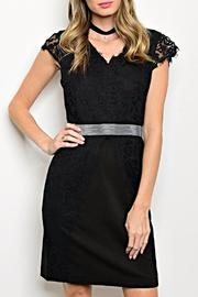 Esley Black Lace Dress - Product Mini Image