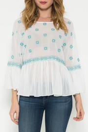 Esley Bohemian Emroidered Top - Product Mini Image