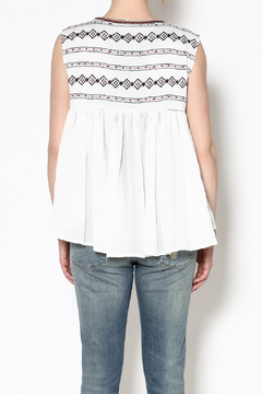 Esley Collection White Gypsy Top - Alternate List Image