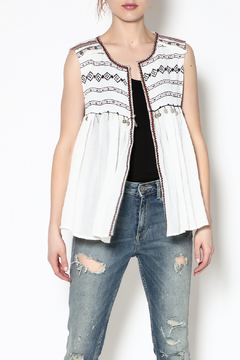 Esley Collection White Gypsy Top - Product List Image