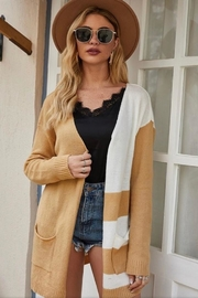 Esley Color Block Cardigan - Product Mini Image