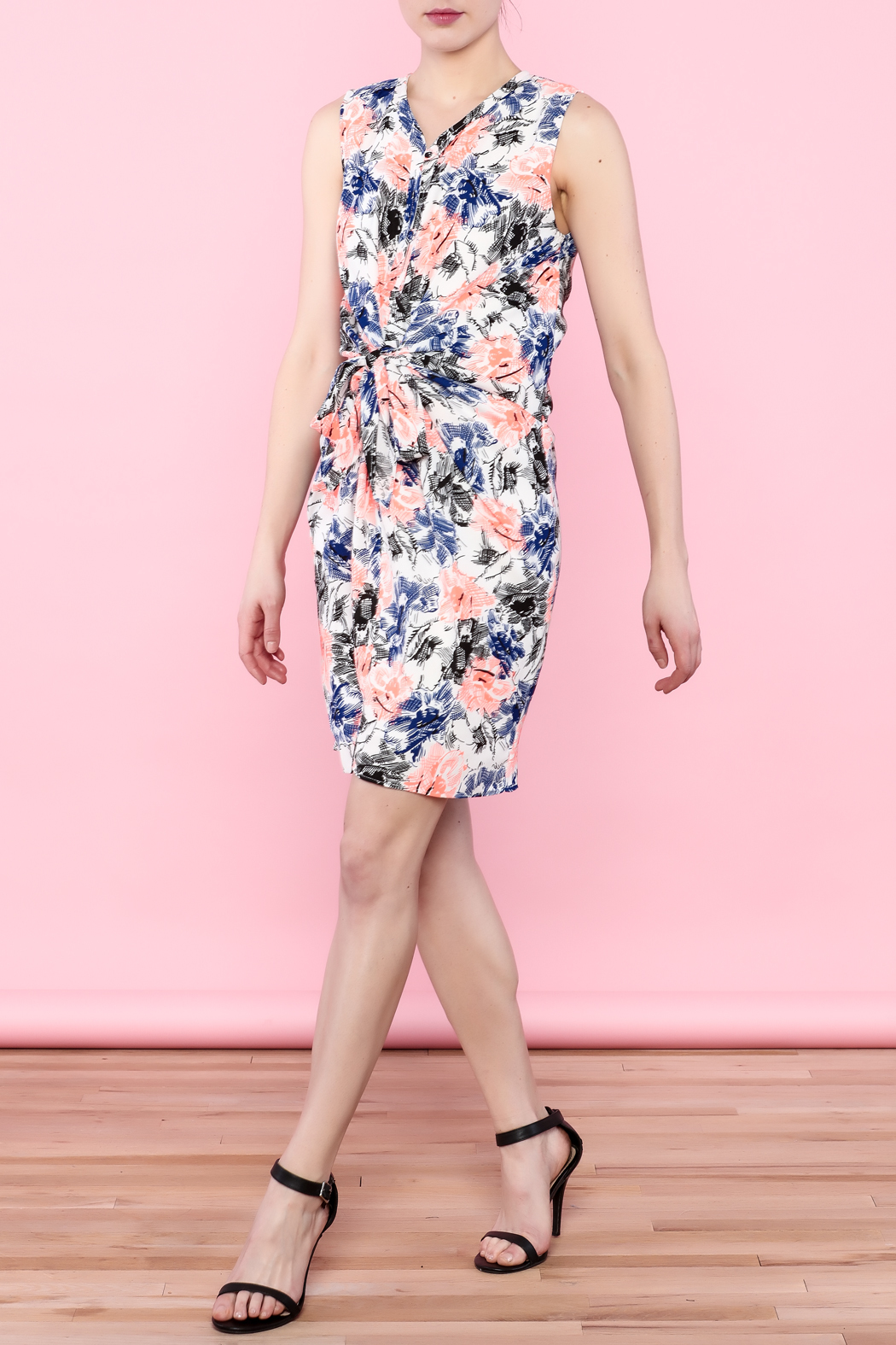 Esley Colorful Spring Dress - Side Cropped Image