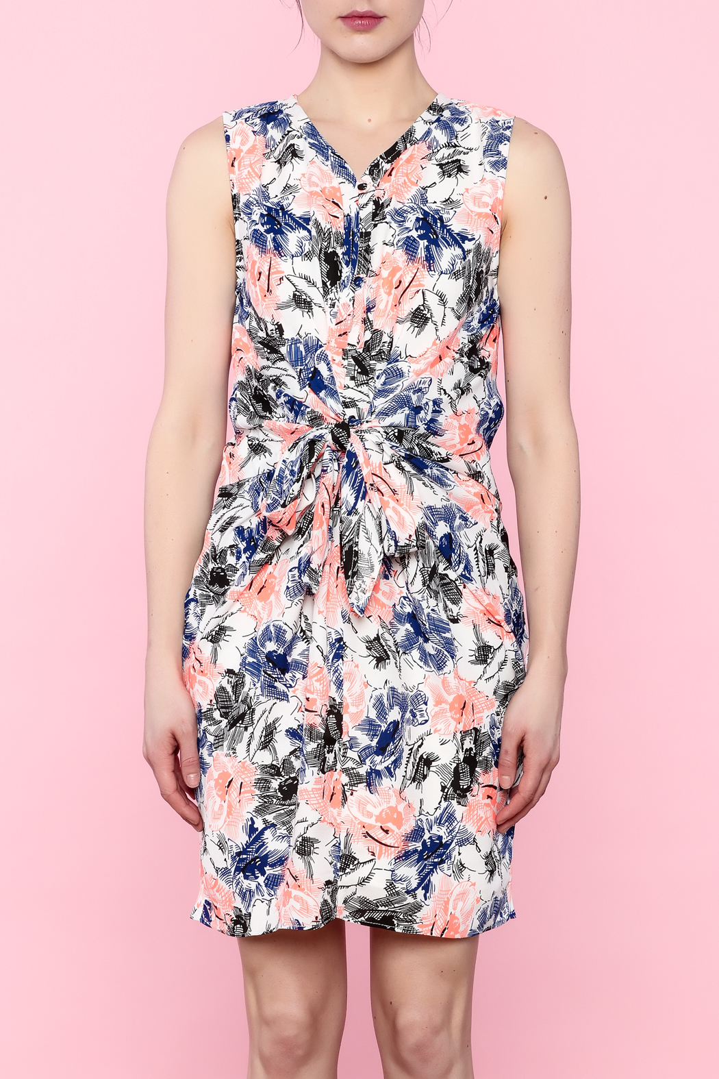 Esley Colorful Spring Dress - Front Full Image