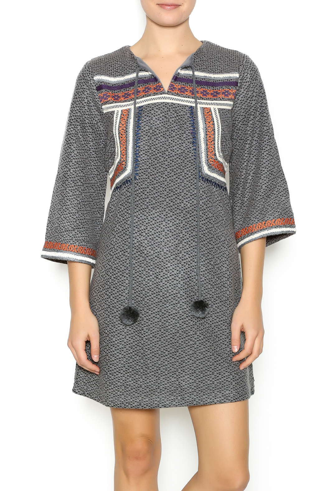 Esley Embroidered Knit Dress - Main Image