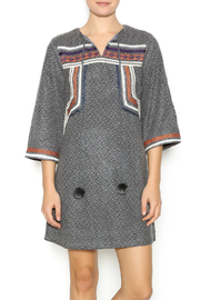 Esley Embroidered Knit Dress - Product Mini Image