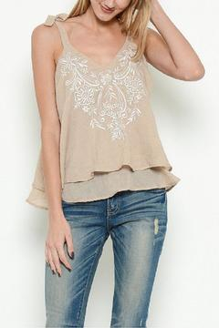 Shoptiques Product: Embroidered Tiered Top